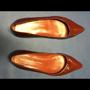 Red patent leather Marc by Marc Jacobs flats.